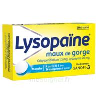LysopaÏne Comprimés à Sucer Maux De Gorge Sans Sucre 2t/18 à BOURG-SAINT-ANDÉOL
