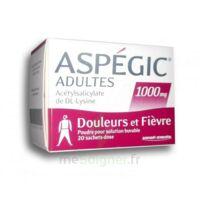 Aspegic Adultes 1000 Mg, Poudre Pour Solution Buvable En Sachet-dose 20 à BOURG-SAINT-ANDÉOL