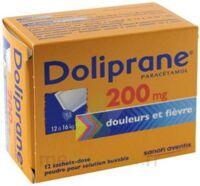 Doliprane 200 Mg Poudre Pour Solution Buvable En Sachet-dose B/12 à BOURG-SAINT-ANDÉOL
