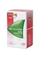Nicorette 2 Mg Gomme à Mâcher Médicamenteuse Sans Sucre Fruits Plq/105 à BOURG-SAINT-ANDÉOL