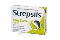 Strepsils Citron Sans Sucre, Pastille édulcorée à L'isomalt, Au Maltitol Et à La Saccharine Sodique à BOURG-SAINT-ANDÉOL