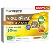 Arkoroyal Gelée Royale Bio Sans Sucre 1500mg Solution Buvable 20 Ampoules/10ml à BOURG-SAINT-ANDÉOL