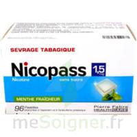 Nicopass 1,5 Mg Pastille Sans Sucre Menthe Fraîcheur Plq/96 à BOURG-SAINT-ANDÉOL