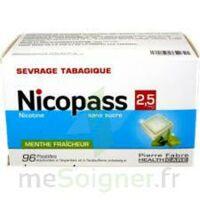 Nicopass 2,5 Mg Pastille Menthe Fraîcheur Sans Sucre Plq/96 à BOURG-SAINT-ANDÉOL