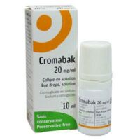 Cromabak 20 Mg/ml, Collyre En Solution à BOURG-SAINT-ANDÉOL