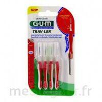 Gum Trav - Ler, 0,8 Mm, Manche Rouge , Blister 4 à BOURG-SAINT-ANDÉOL
