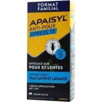 Apaisyl Anti-poux Xpress 15' Lotion Antipoux Et Lente 200ml+peigne à BOURG-SAINT-ANDÉOL