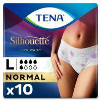 Tena Lady Silhouette Slip Absorbant Blanc Normal Large Paquet/10 à BOURG-SAINT-ANDÉOL